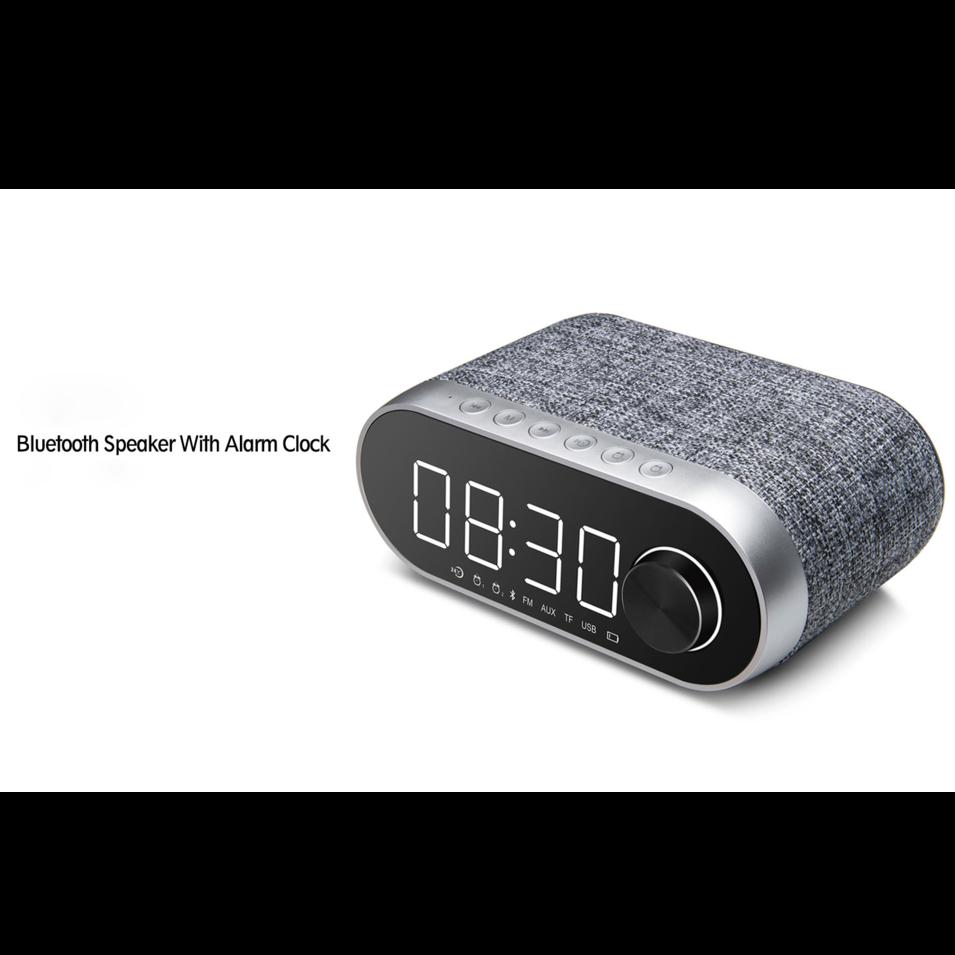 Bluetooth speaker Unique dual alarm clock  function