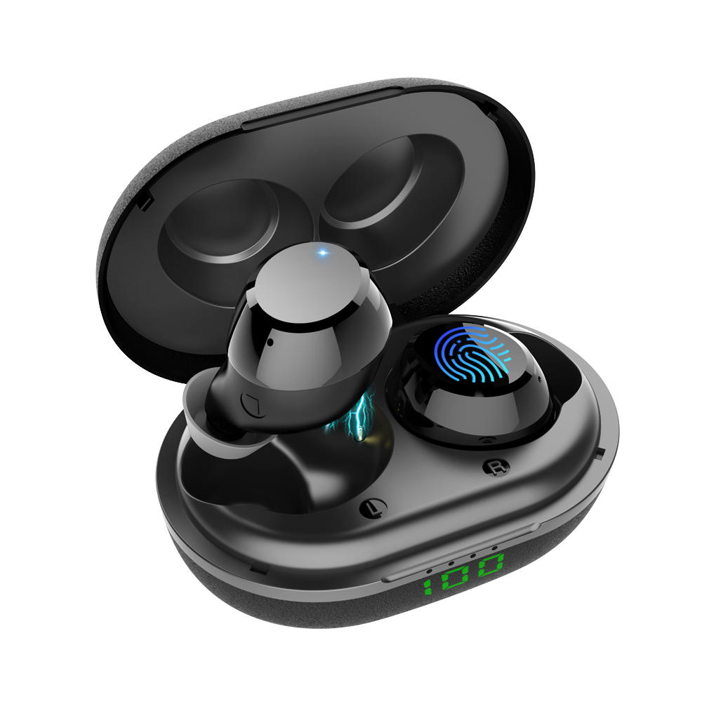 Bluetooth 5.0 Headset in-Ear Earphone One-Step Pairing withTouch-Control Operation LED Display True Wireless Earbuds
