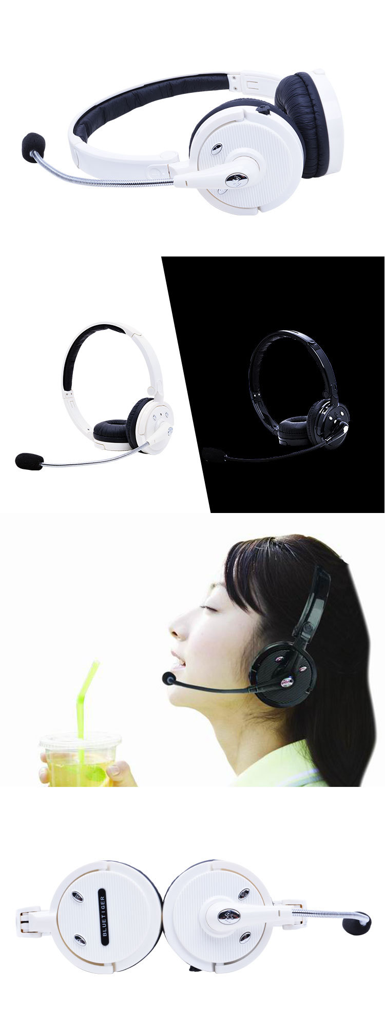 product-Bodio M20C Dual Ear headset easy connect bundle foldable bluetooth headset-Bodio Electronic-