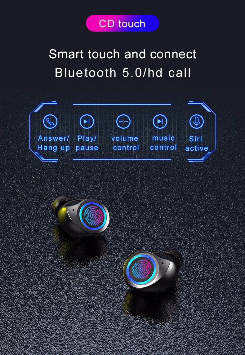 product-New Arrival TW80 Private Model Wireless Bluetooth Earphone Low Display Touch Auto Pairing Ea