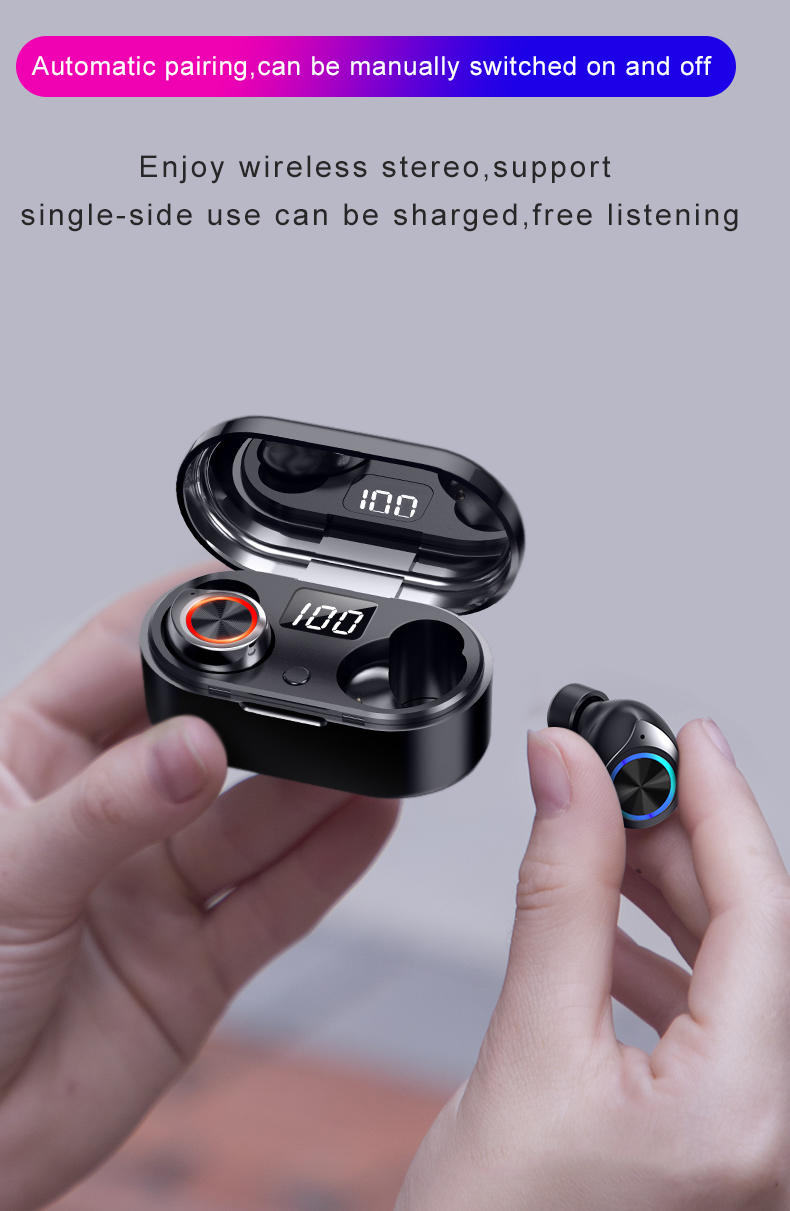 Bodio Electronic business over the ear earbuds with microphone factory