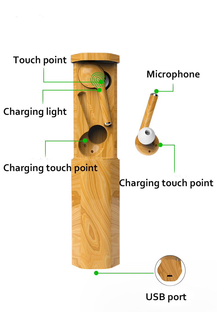 product-Fast Dispatch Earphone Tw50 Bamboo Headphone Earphone Electronics Wireless for iPhone Androi