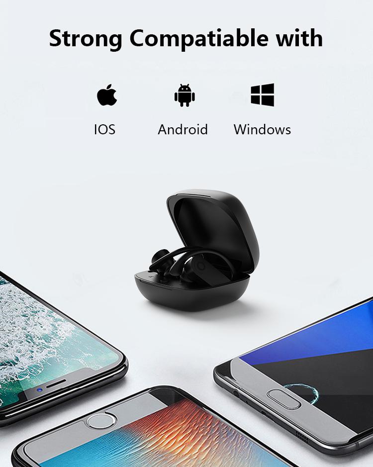 product-Noise Cancelling Mini Auto Hifi True Wireless Stereo Audifonos Bluetooths 50 Sport Headphone