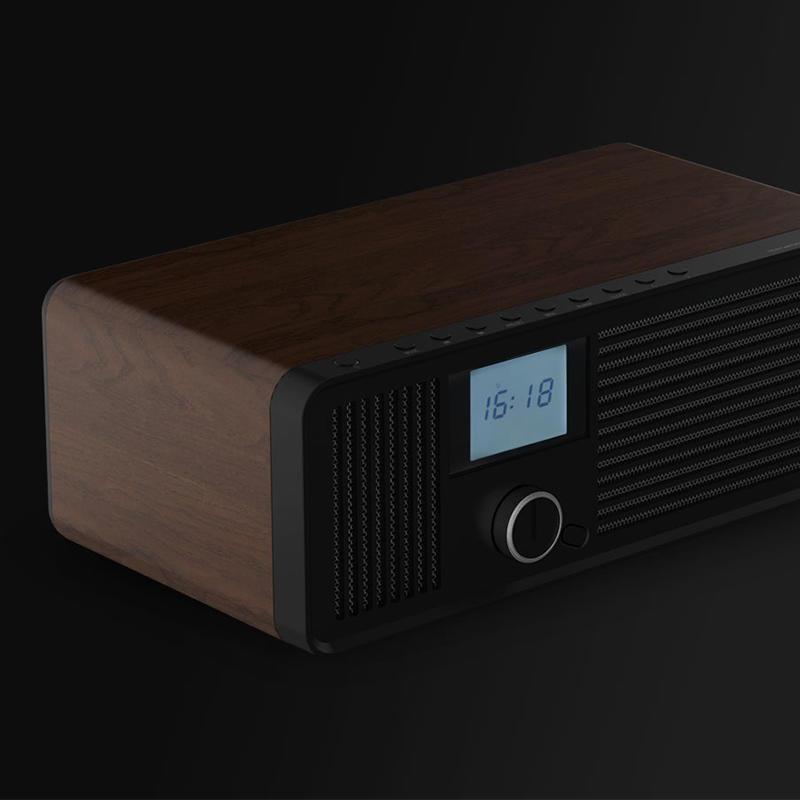 Woody Texture Shell Bluetooth speaker alarm function rhythmic jazz sound