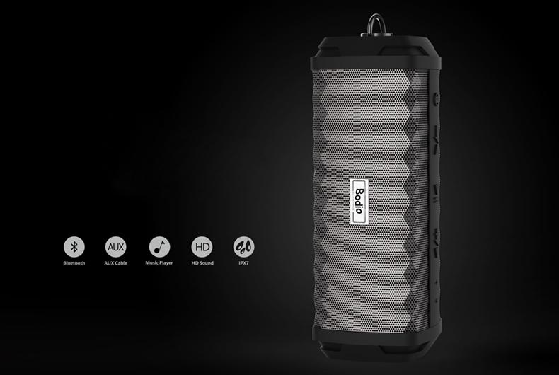 Bodio Electronic-Music Bluetooth Speaker | Bd-bs-008 4000mah Li-ion Battery Aux-2