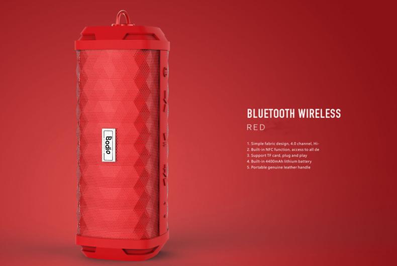 Bodio Electronic-Music Bluetooth Speaker | Bd-bs-008 4000mah Li-ion Battery Aux-1
