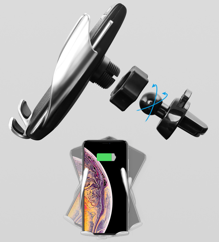 Bodio Electronic-Newest Product Wireless Car Charger Automatic Holder | Data Cable-1