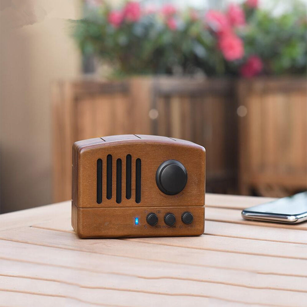 Wood grain wireless bluetooth speaker outdoor ABS cloth