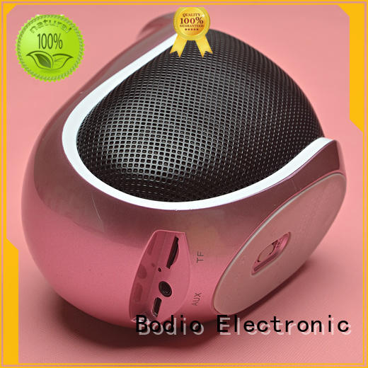 Bodio Electronic black led light bluetooth speaker widely-use for meeting